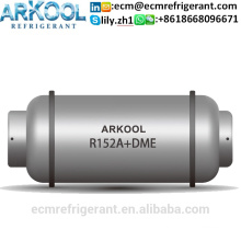 Refrigerant gas R152A + DME Dimethyl Ether 60% R152a+40%DME