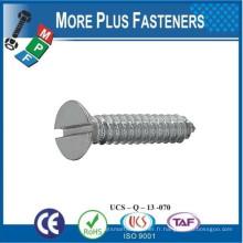 Fabriqué en Taiwan ISO 1482c BS 4174 Vis à taraudage à tête fendue à fente