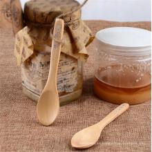 mango de madera elegante cuchara de bebé pequeña