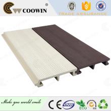 Uso al aire libre material wpc y panel de pared de plástico de madera