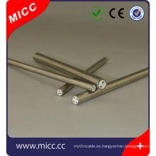 Vaina de cable MI aislada con revestimiento de metal / diámetro pequeño mineral AISI316