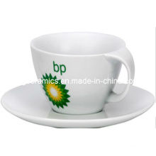 Bend Handle Caneca De Café e Placa