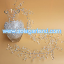 Crystal Bead Leaves Sprigs With Wire Trim