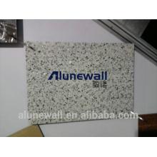 Alunewall 2017 venta caliente incombustible piedra como / panel compuesto de aluminio de color mármol con 2 metros de ancho