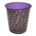 Cubo de basura abierto del diseño abstracto plástico (B06-2015-3)