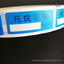 Kundenspezifischer Druckkunstpapieraufhebunggesundheitspflegeprodukt-Tablettenaufkleber