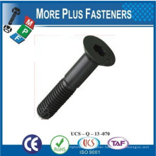Made In Taiwan Countersunk Slotted Head Bolt Flat Countersunk Head Elevator Bolt Oval Neck Track Bolt
