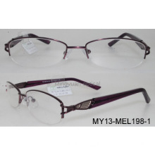 Metal optical glasses,temple fill color ,lady style