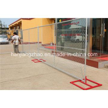 Clôture de construction à chaîne galvanisée à chaud DIP utilisée chez nous et au Canada