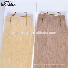 Top-Qualität weiche Haut Schuss nahtlose Haarverlängerungen, Vergießen frei Kleber Haar Klebeband Haar