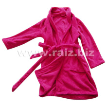 Plain Coral Fleece Bathrobe