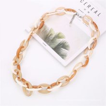 Manufacturer New trend resin link jewelry for women fashion long acrylic chain necklace