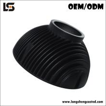 El disipador de calor cilíndrico de aluminio del disipador de calor del OEM a presión fundición llevó el fregadero para las lámparas