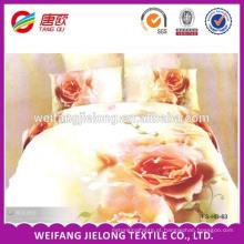100% poliéster microfibra tecido folha de cama preço barato