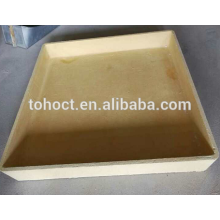 1350 C carré rectangulaire couleur jaune mullite céramique creuset céramique saggar