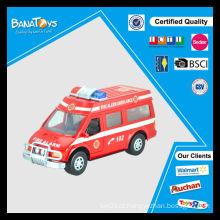 Hot sale china ambulância carros brinquedo para crianças plástico fricção polícia brinquedo carro