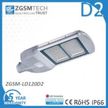 Vidrio cubierta 120W LED luz de calle con el Ce RoHS