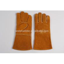 A1 47cm economic welding gloves cow split leather welding gloves