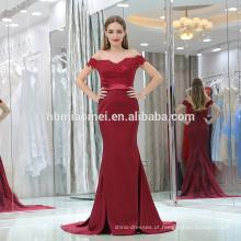 2017 sexy profundo com decote em v uma palavra ombro sereia laded dark red big ass em noite vestido fotos saree strapless noite