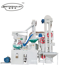 Small combined automatic rice mill machine