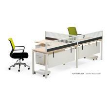 L Shape Laminated Wood and Aluminum Full Set Workstation with Modesty Panel