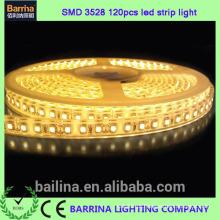 Alta qualidade CE RoHS 120LED flex 3528 LED luz de fita