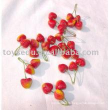 Plastikspielzeug Früchte und Gemüse - Mini Plastik Erdbeeren Design