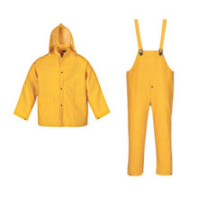 Yj-6022 Mens Womens Waterproof PVC Rain Suit Yellow Raincoats Rain Jackets Overalls