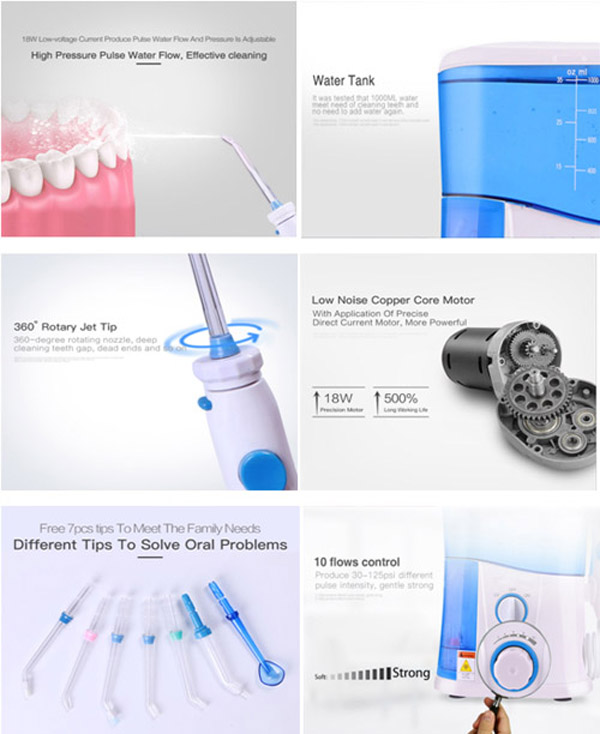 oral irrigator advantages