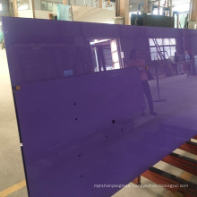 Backsplash colorful and durable purple red blue white 5mm 6mm back painted glass price