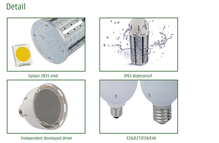 Outdoor IP64 Corn Led Lamp E40