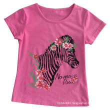 Fashion Girl Baby T-Shirt in Children Clothes Apparel with Printingsgt-078