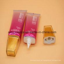 Fabricante del óvalo plástico tubos para el lavado de cara, cosmética tubos de embalaje