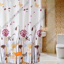 Poliéster, PEVA, EVA, cortina de ducha del PVC, cortina del baño, cortina del cuarto de baño