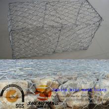 Оптовая полевых экономит стальные клетки 2x1x0.5м шестиугольное gabion горячего погружения гальванизированная gabion каменные 60x80mm для отверстие габионные сетчатые ящики
