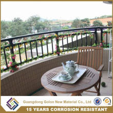 Cure or Straight Galvanized Steel Balcony Railing