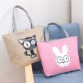 Werbeartikel große Leinwand Einkaufstasche mit Reißverschlusstaschen