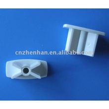 Componentes de cortina de rolo-tampa de extremidade de PVC para trilho inferior, mecanismos de cortina de rolo, tubo de obturador, tampa de extremidade para cortina de rolo