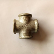 "3/4"" black malleable iron cross for DIY furniture"