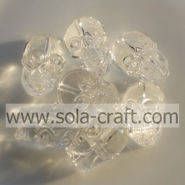 Wholesale Transparent Skull Acrylic Loose Beads for Decoration