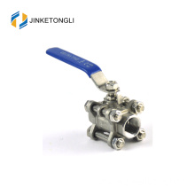 JKTL3B009 cf8m 1000 wog 3pc float teflon cast iron palsu ball valve