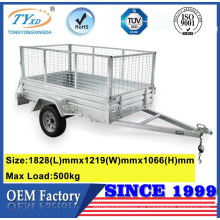 7x4 remolques de carga utv de aluminio