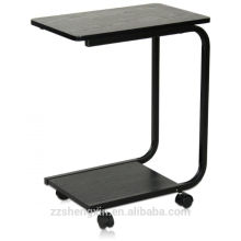 Side Table with Metal Legs and Castors