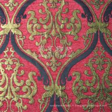 100 % polyester Jacquard Chenille tissu pour la décoration