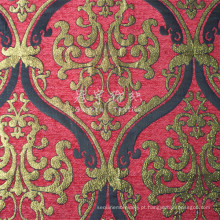 100% poliéster Jacquard Chenille tecido para decoração