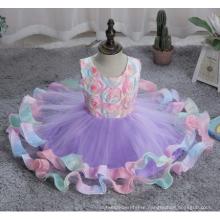 Beautiful Princess Children Clothing Wear Birthday Party Unicorn Horn Sequin Tutu Girl Dress