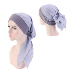 Velvet bandanas hair accessories silk chiffon bonnet hat