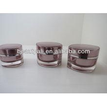 En forma de hoja acrílico frasco de cosméticos