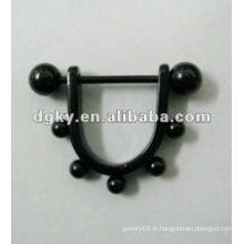 Acier chirurgical planté en gros bijoux pour bijoux en anneau de tétine
