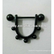 Plted Surgical Steel wholesale nipple ring body jewelry